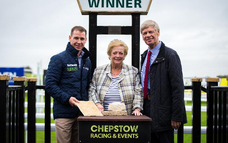 Colin and Sue Lewis with champion jockey and Chepstow ambassador Richard Johnson.