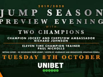 Jump Season Opener Preview, Richard Johnson, Paul Nicholls, Chepstow Racecourse